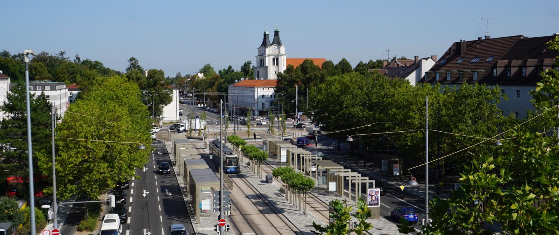 Blick Romanplatz
